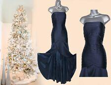 MONSOON Navy Pleated Asymmetrical Hem/Short Gown Wedding Maxi Dress 12 £249