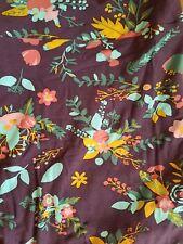 NWT Lularoe TC leggings asian floral plum purple mint pink orange flower leaf