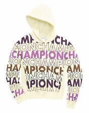 Womens Champion Life Reverse Weave Pullover Hood Sweatshirt All-over Logo Script
