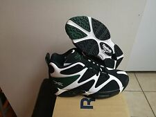 Men's Reebok Kamikaze 1 Mid White/Black/Racing Green V60362 Size 7.5