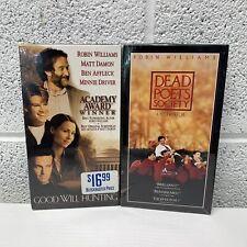 VTG 90s Robin Williams VHS Lot Blockbuster Sealed Good Will Hunting Dead Poets