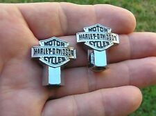 HARLEY DAVIDSON VALVE CAPS PAIR *New & Unique Tire Valve Nuts FREE SHIPPING $$$