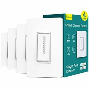 Smart Dimmer Switch 4 Pack Treatlife Smart Light Switch Works with Alexa and ...