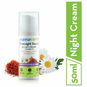 Mamaearth Overnight Repair Cream with Saffron and Daisy Flower - 50 Ml-Free Ship