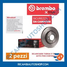2 DISCHI FRENO FORATI ANTERIORE BREMBO ABARTH 500 500C
