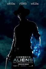 COWBOYS & ALIENS Movie POSTER 27x40 B Olivia Wilde Daniel Craig Harrison Ford