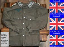 1:6 MINIATURE WWII GERMAN WEHRMACHT OFFICERS UNIFORM FIELD TUNIC JACKET DIORAMA