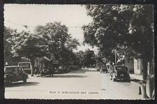 RP POSTCARD BOBCAYGEON, CANADA DEVITTS MAIN ST COCA COLA SIGN 1940'S