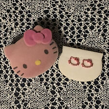 NIB Hello Kitty Earrings in Pink Glitter Includes Hello Kitty Case