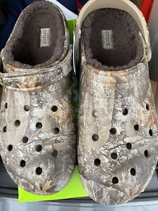 Crocs Classic Realtree Lined Clogs Camo Chocolate MENS 13 NWT