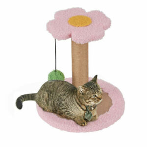 11in Cat Scratching Post  Indoor Cats, Kitten Scratch Post Tower Perch& Toy Ball