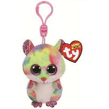 aafeb835b74 Ty Boos Rodney the Pink Hamster Boo Plush clip Key Chain ( New )