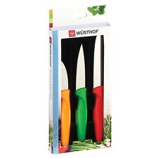 Wusthof Zest 3pc Paring Knife Set - Serrated, Spear & Bird's Beak - Boxed