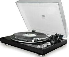 TechPlay Tcp4530 Blk Record Player Turntable 33 45 Rpm Belt Drive Rca Out New