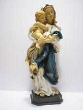 Heiligenfigur heilige Maria Weidner Madonna mit Kind Höhe Ca.37 7cm