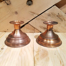 Copper Taper Candle Holders Set of 2 - Swanky Barn