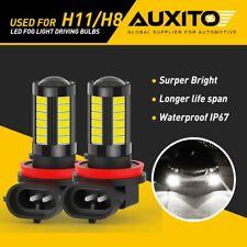 AUXITO H11 H8 5-Side LED Fog Light Driving Bulbs 6000K for 2006-2019 Honda Civic