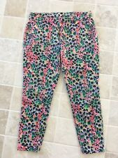 WOMENS KHAKIS BY GAP, SKINNY MINI, CROP, SIZE US 6, AU 12 PATTERNED MULTI COLOUR