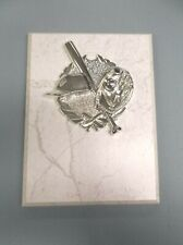 baseball plaque silver relief on white board 6 x 8 trophy award