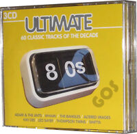 The Ultimate 80s Eighties Songs 60 Music Tracks Original Recordings 3 CDs New