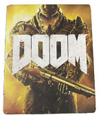 Genuine PS4 Doom Collectors Game Steelbook Disc Case ONLY - New Other
