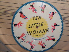 """RECORD GUILD AMERICA CHILDREN'S 78RPM 7"""" PICTURE DISC/TEN LITTLE INDIANS/POLLY"""