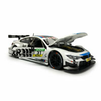 1:24 Scale BMW M4 DTM Racing Model Car Diecast Collection White Gift Doors Open