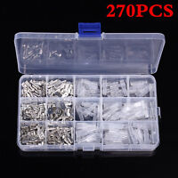 270×Male Female Spade Connector Wire Crimp Terminal Assortment Kit 2.8 4.8 6.3mm