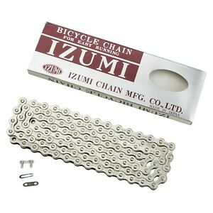 "IZUMI #11 STANDARD SILVER 1/8"" Bike Chain BMX Track Fixed Gear Single Speed"