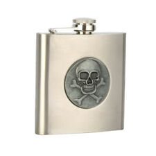 Pocket Hip Flask 6 Oz with Funnel Stainless Steel Wrapped Cover Leak Proof