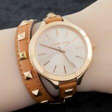 NWT Michael Kors Rose Gold Plated Wrap Around Quartz Watch  MK2299