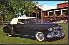ANTIQUE AUTOS, 1947 LINCOLN CONTINENTAL CONVERTIBLE, UNUSED, (378
