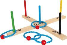 Ringwurfspiel Bunt Holz Wurfspiel Ringwurf Ringe Werfen Spielzeug für Kinder Neu