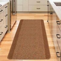 Mason Brown Hardwearing Non-Slip Floor Rug Mat (XS) 80x140cm **FREE DELIVERY**