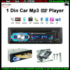 Single 1 Din Car Radio DVD CD MP3 Player Stereo USB/AUX/SD FM In-dash Audio BT