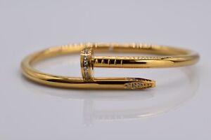 18K Gold Plated Titanium Simple Bangle Bracelet (8 Inch)