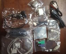 Mixed Lot Of 14 Computer Cables, Attachments, Accessories, Plug In's And Cords