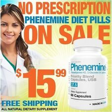 1 Phenemine Adipex 37.5 P Extra Strength Max Strong Best Fast Rapid Weight Loss