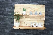 Regal Wandregal Palettenmöbel gebeizt 3D Effekt Bild Küche #22