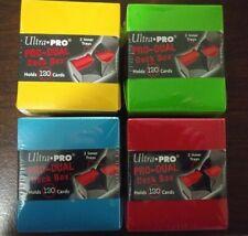 4 LOT - Ultra Pro Red Blue Green Yellow Pro-Dual Deck Boxes MTG Pokémon Yu-Gi-Oh
