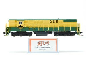 N Atlas 49666 RDG Reading FM H24-66 Trainmaster Diesel Locomotive #265 w/ DCC