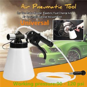 Brake Bleeder Bleeding Fluid Change set Car Van Air Pneumatic Garage Vacuum Tool