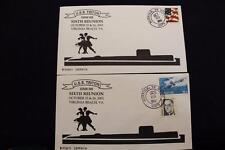DRW NAVAL COVER #336-36A SET/2 6TH REUNION USS TRITON (SSRN-586) 2002 NORFOLK VA