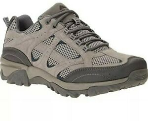 Ozark Trail Men's Vented Low Hiking Shoes, Grey, Size 7.5