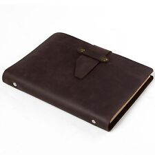 Ancicraft Simple Classic Refillable Leather Journal with Strap A5 Blank Notebook