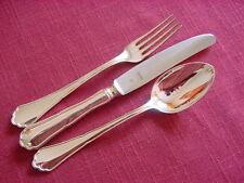 BSF Englisch Chippendale 800 Silber Dessertbesteck eine Person 3 teilig