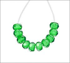 20 Cubic Zirconia Rondelle Beads 3mm Emerald Green #64492