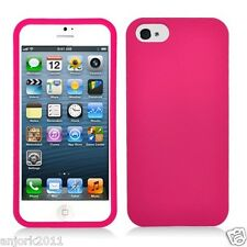 APPLE iPHONE 5 SNAP ON HARD COVER CASE PHONE ACCESSORY HOT PINK