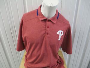 NIKE MLB PHILADELPHIA PHILLIES XL COLLAR POLO DR-FIT RED SHIRT NEW W/ TAGS
