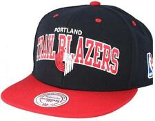 Mitchell & Ness Portland Trail Blazers Team Arch Snapback Cap na80z Black Red